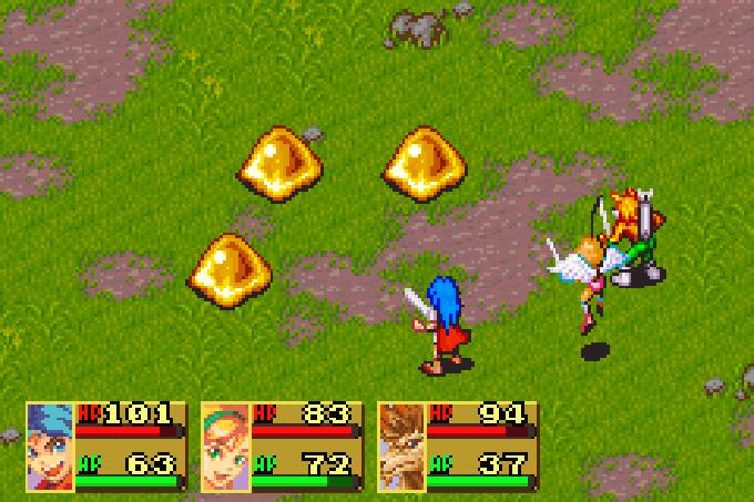 Diese Gegner machen irgendwie Appetit auf Vanillepudding (Game Boy Advance)