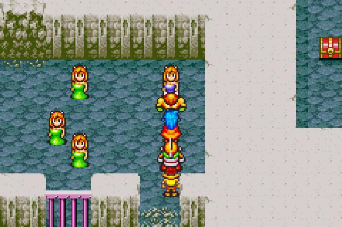 Endlich befreit: Die Frauen aus Gant werden aus dem Kerker gerettet (Game Boy Advance)