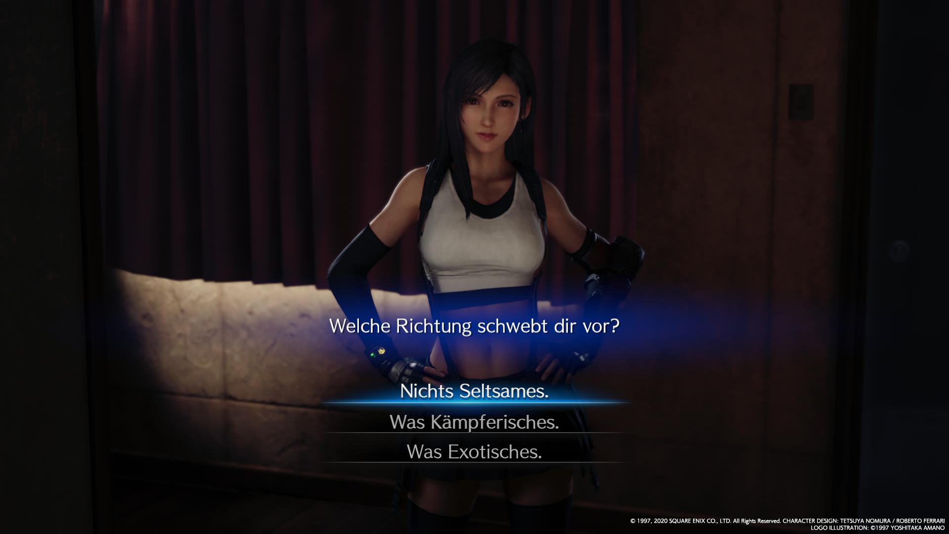 Auf Cringe muss bei Final Fantasy VII auch 2020 nicht verzichtet werden.